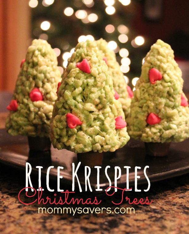rice krispies treats christmas trees