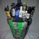homemade gift idea liquor bouquet
