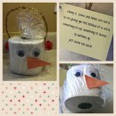 homemade gift idea tp snowman