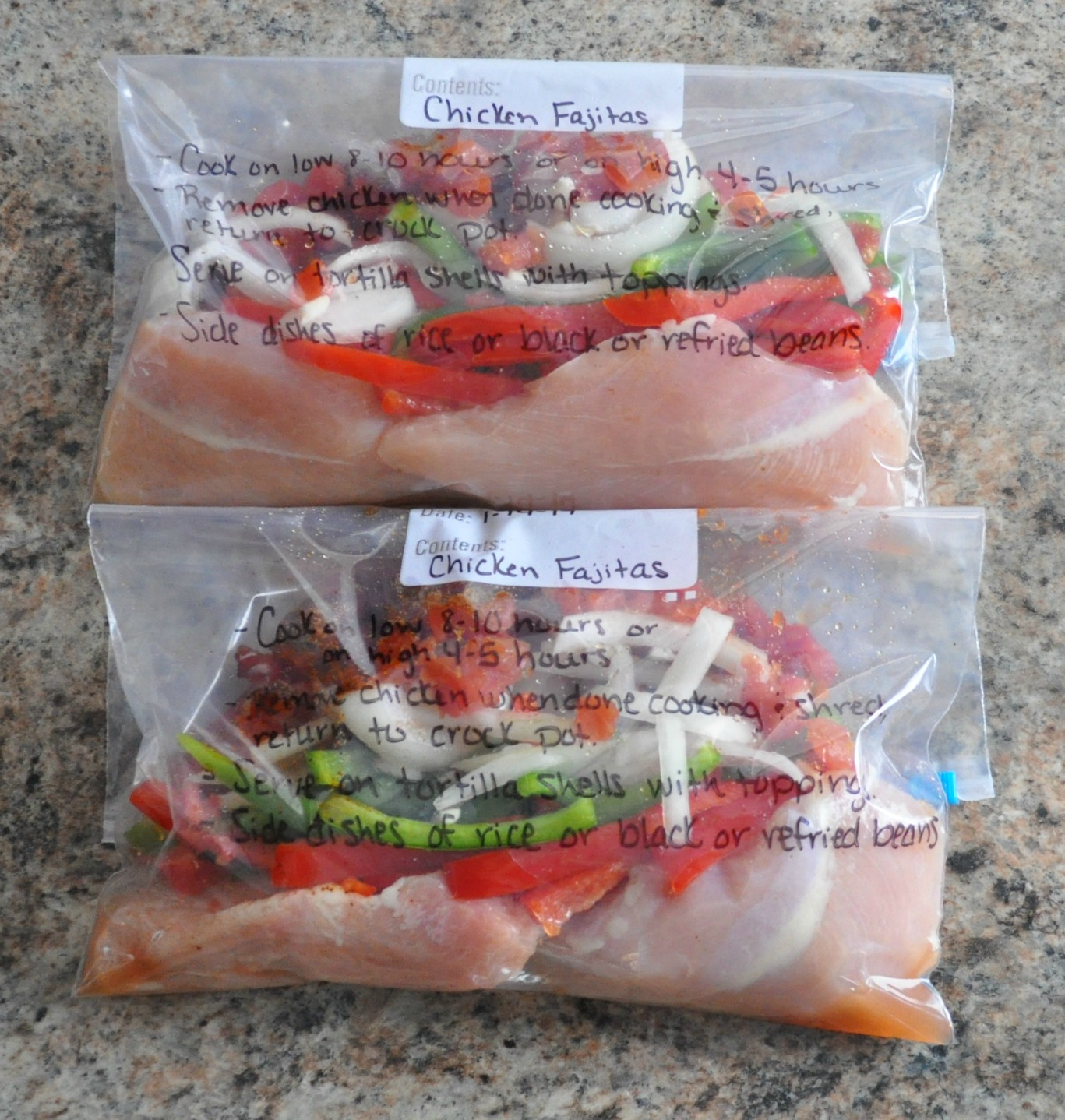 Crock Pot Meals Chicken: Crock Pot Freezer Meals: Chicken Fajitas