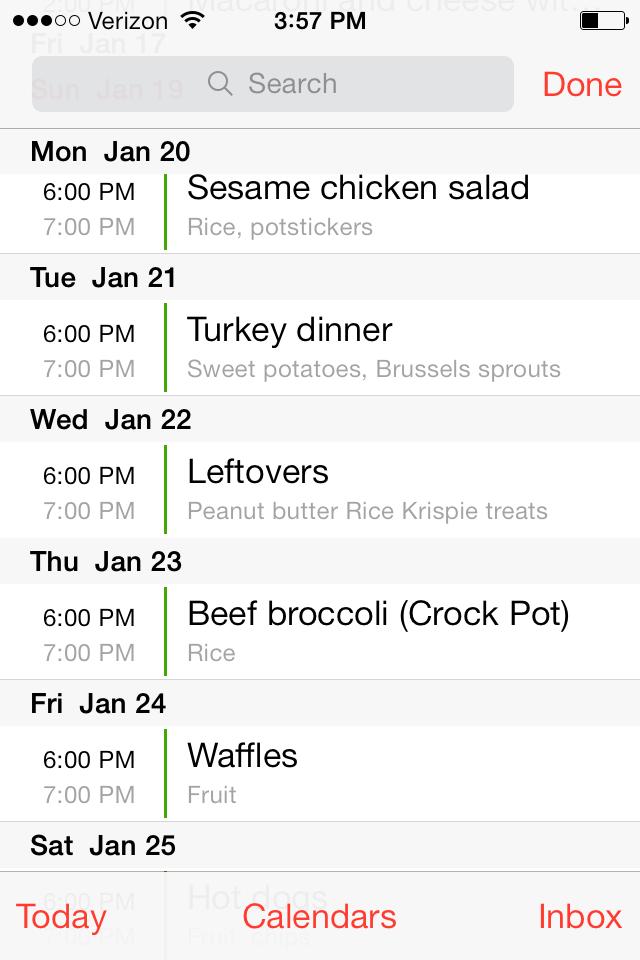Weekly Menu Planning Method