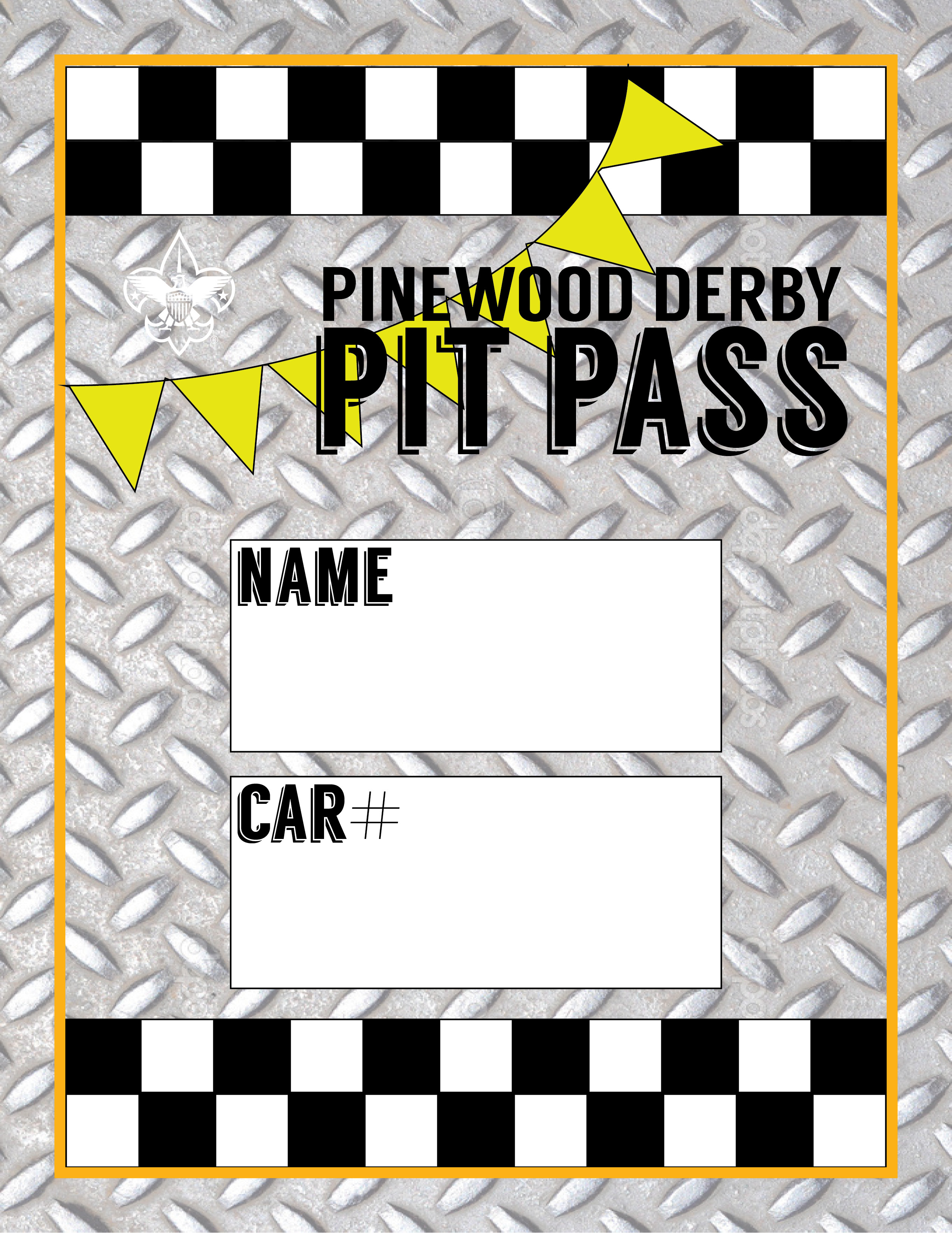 Pinewood Derby Pit Passes FREE Printable Mommysavers