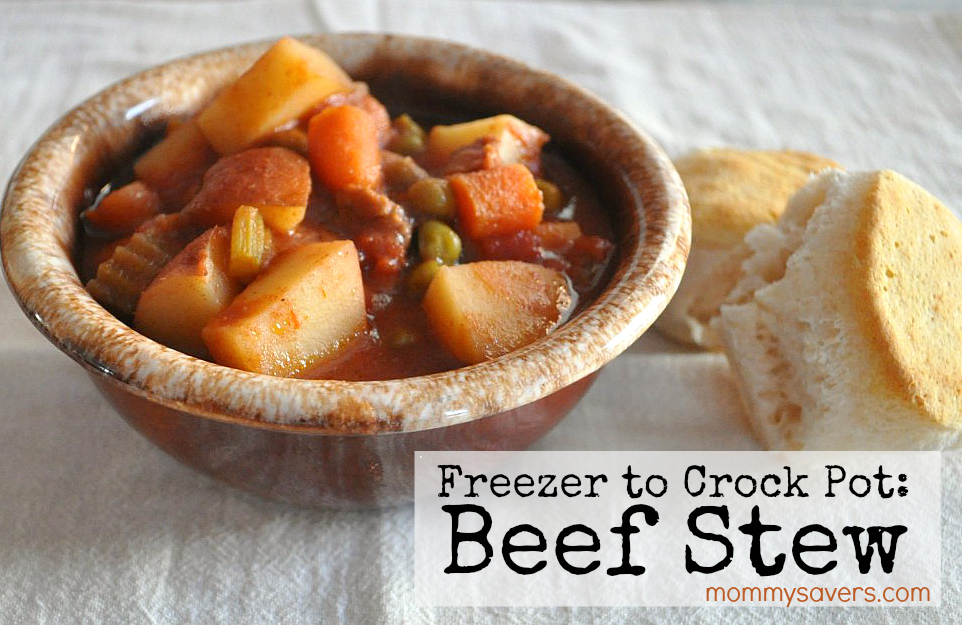 Freezer Crockpot Meals - Beef Stew (freezer to crock pot)