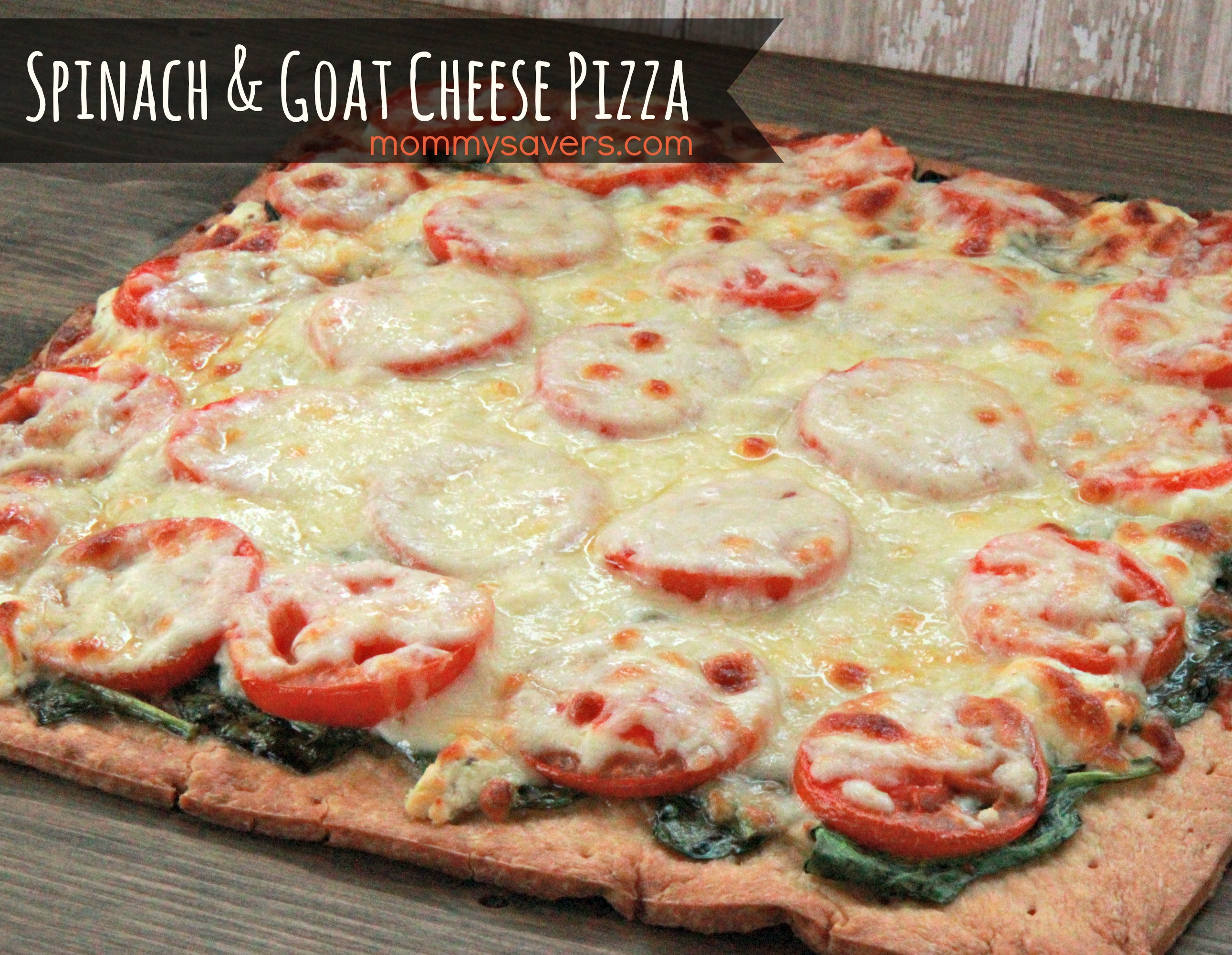 Spinach and Goat Cheese Pizza Recipe