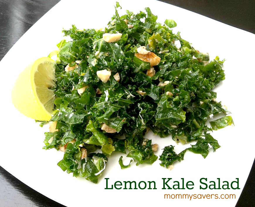 Lemon kale salad recipe mommysavers