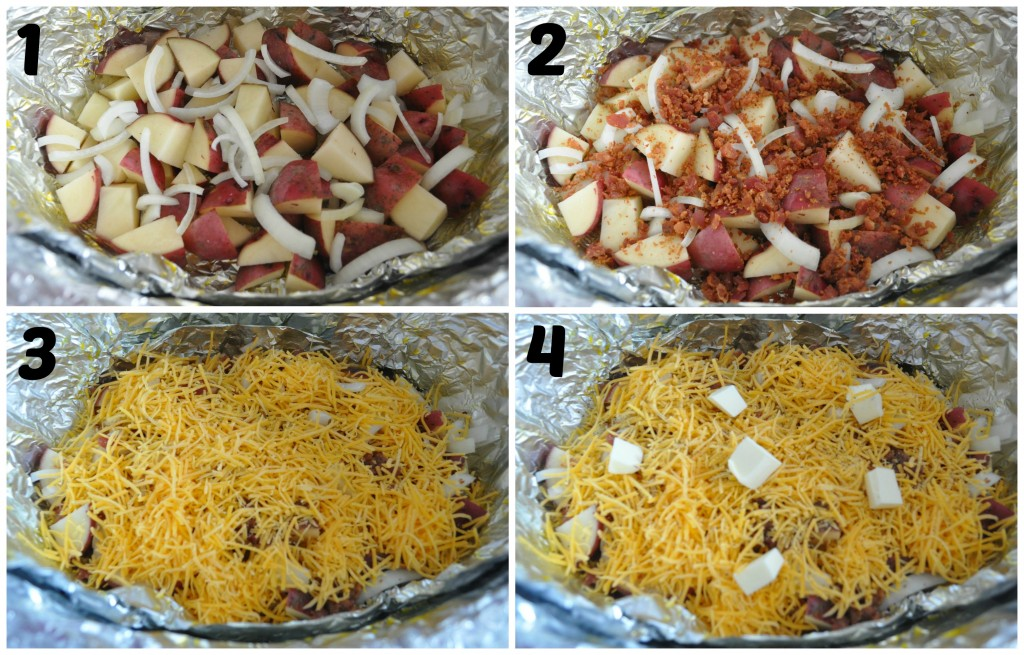 crock pot cheesy bacon potatoes