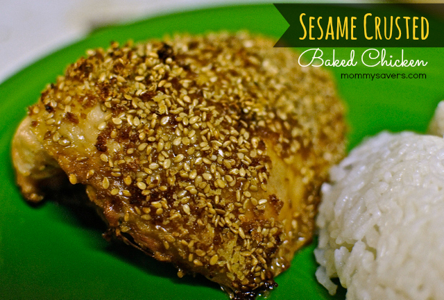 Sesame Crusted Baked Chicken