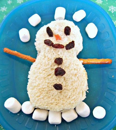 indoor snowman activities snowman sandwich