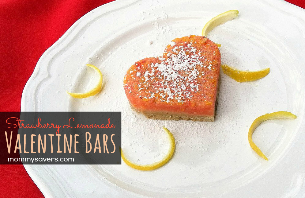 Strawberry Lemonade Bars for Valentine's Day