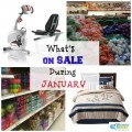 what's on sale during january