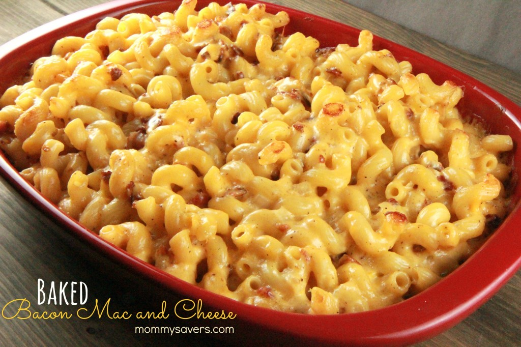 Baked Macaroni and Cheese with Bacon | Mommysavers