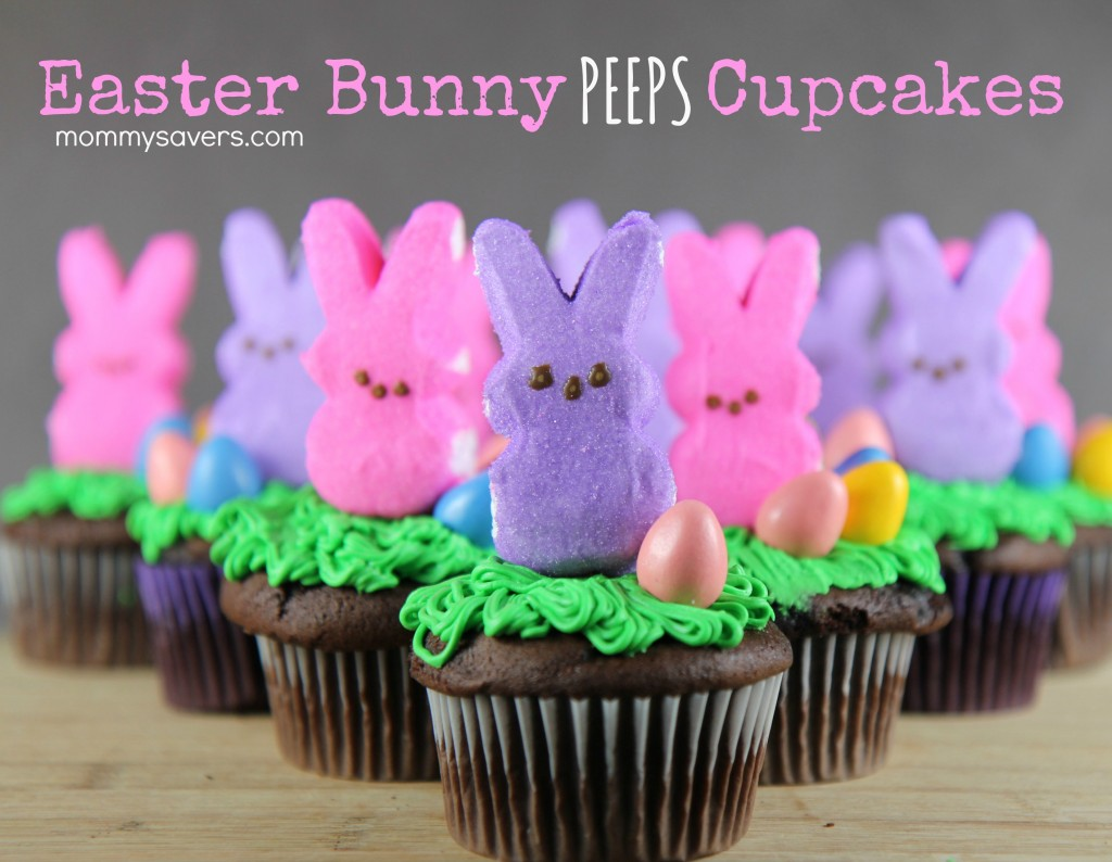 Easter Bunny Peeps Cupcakes | Mommysavers