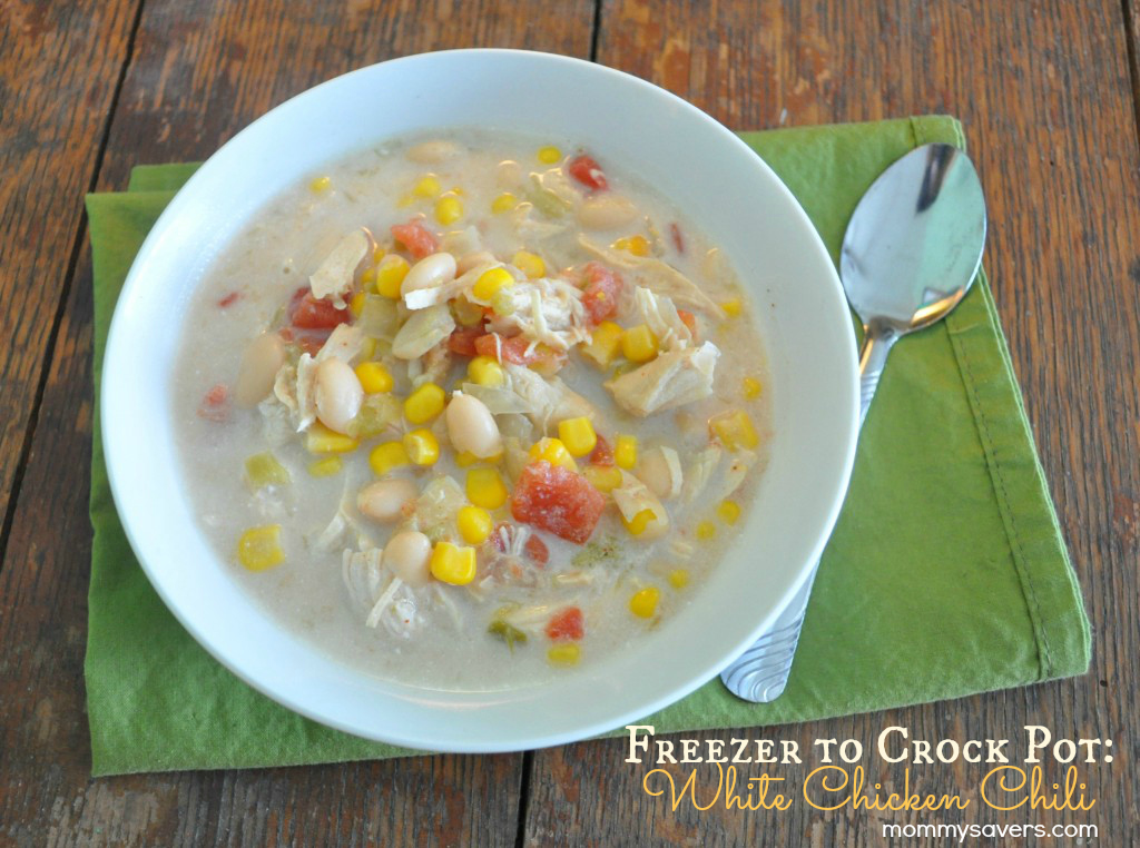 Crock Pot Freezer Meals - White Chicken Chili Mommysavers.com