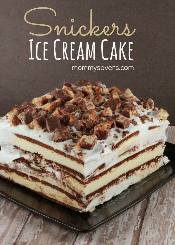 Snickers Ice Cream Cake - SO Easy!