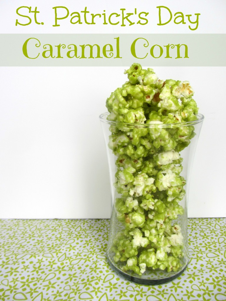 St. Patrick's Day Green Caramel Corn