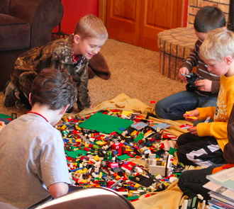 frugal family fun lego night