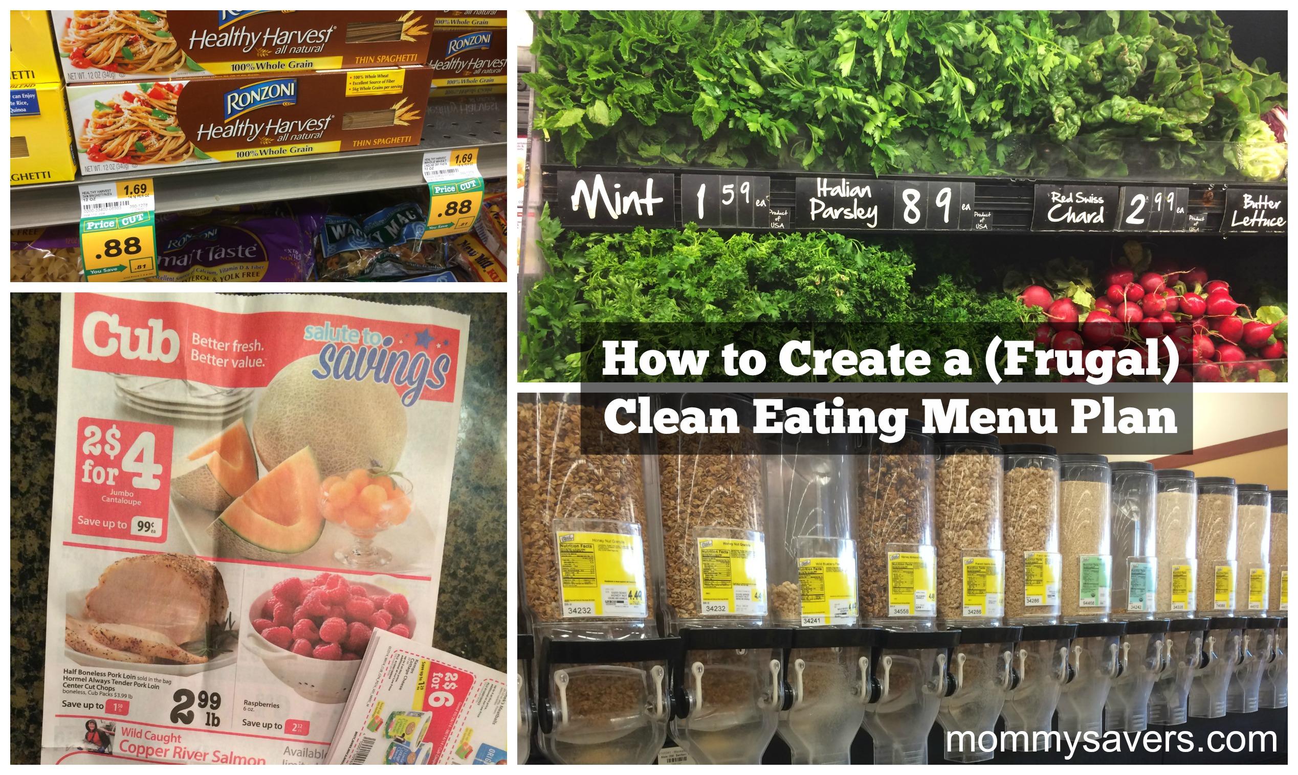 How to Create a Frugal Clean Eating Menu Plan