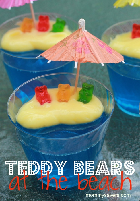 Teddy bear dessert | DIY Beach Party Ideas For Your Beach-Themed Celebration