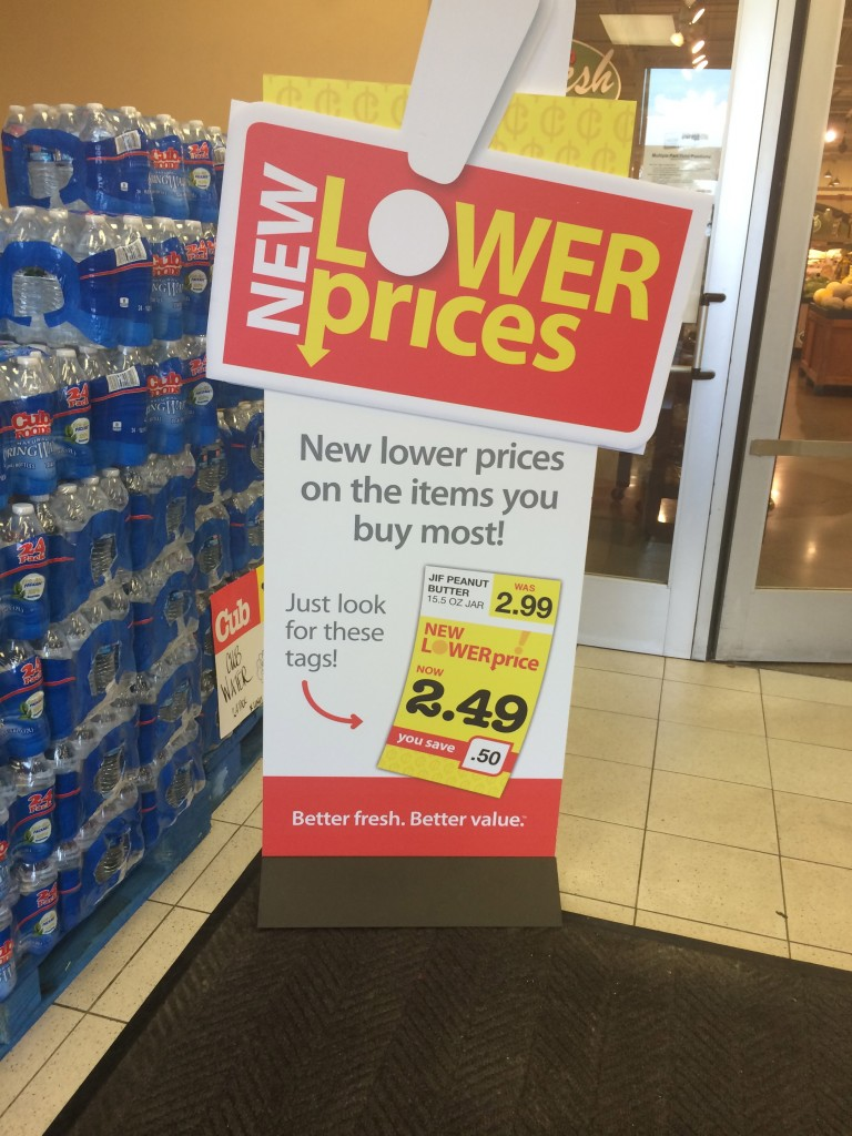 cub foods new lower pricing