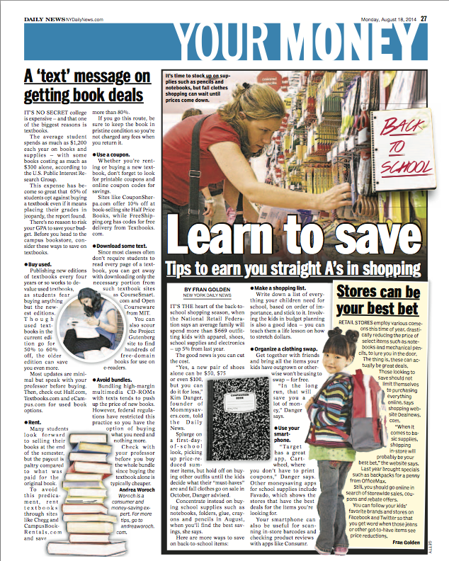 back to school tips from New York Daily News