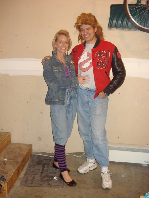 diy couples halloween costumes 80u0027s Couple  sc 1 st  Mommysavers : 80s movie couples costume  - Germanpascual.Com