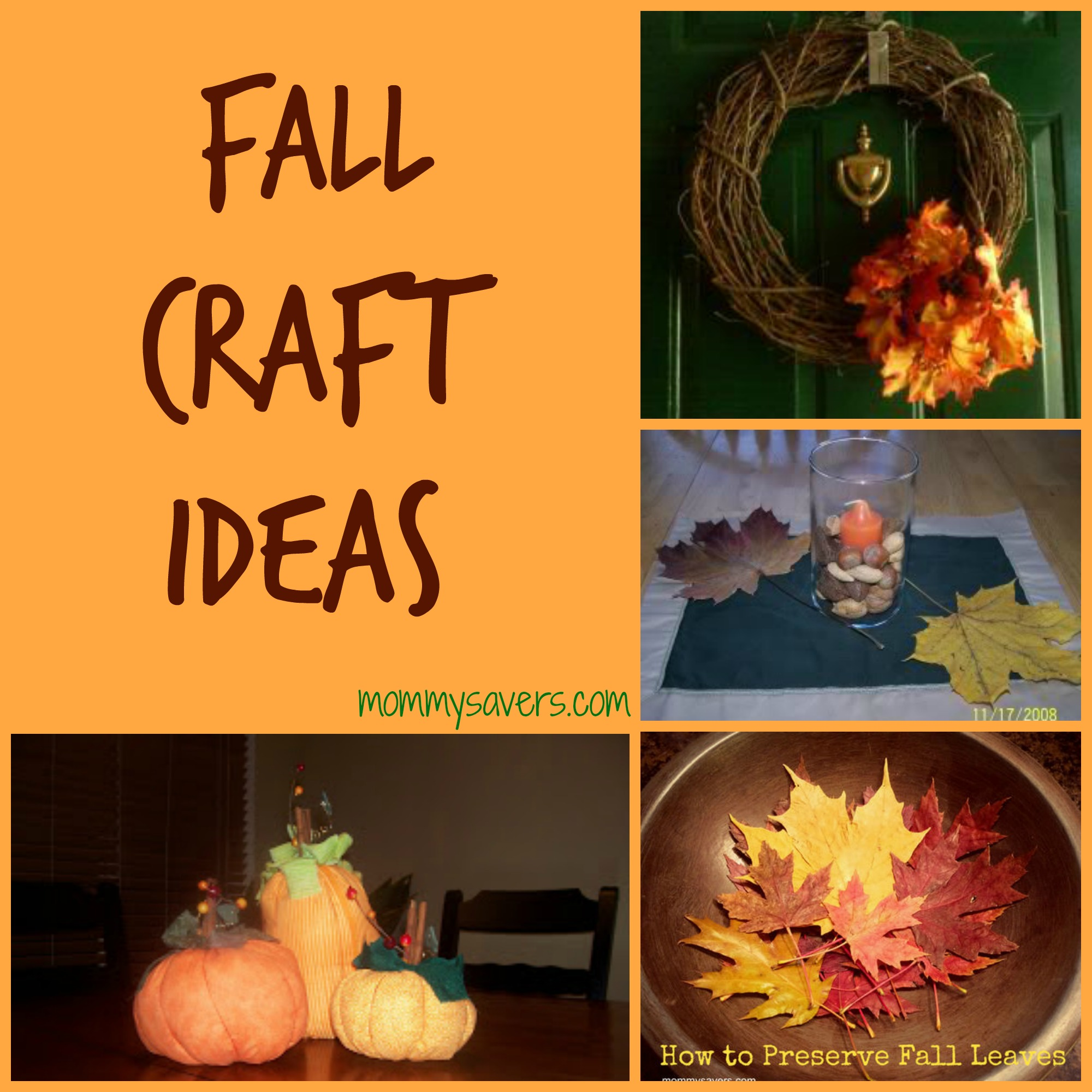 Fall Craft Ideas 10 Simple Crafts