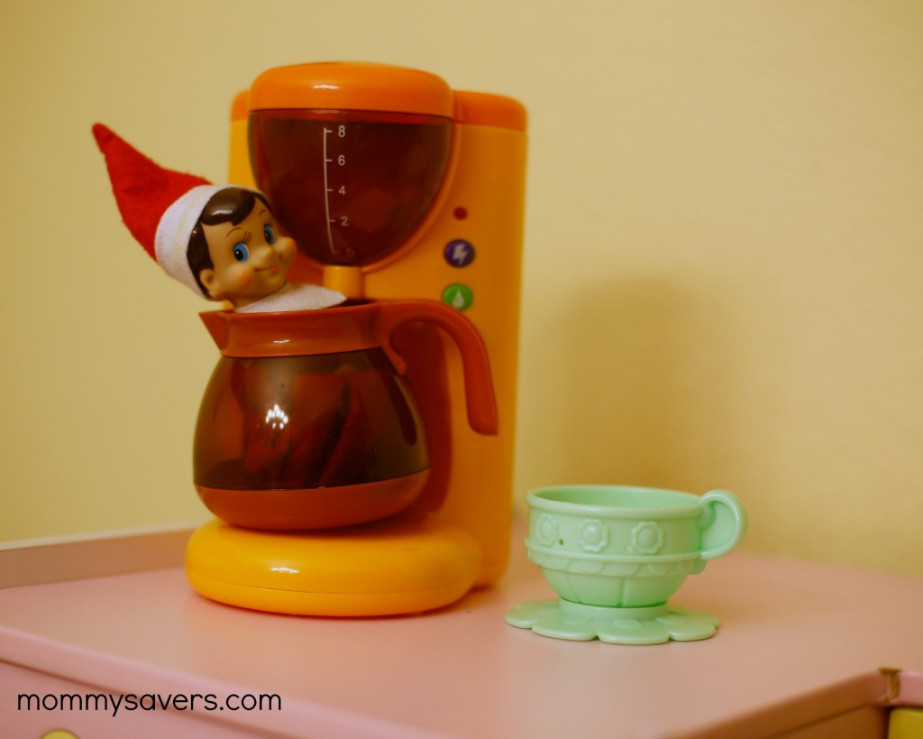 Ideas for Elf on the Shelf - Coffee