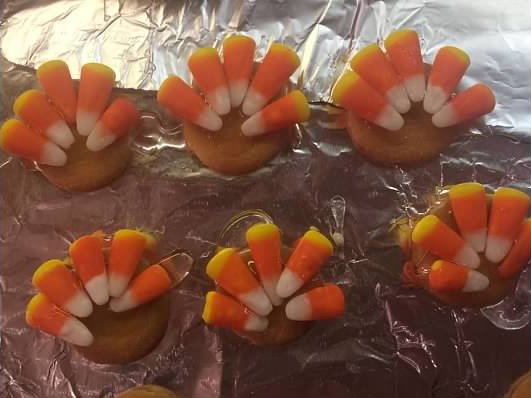 Easy Thanksgiving Turkey Cookies