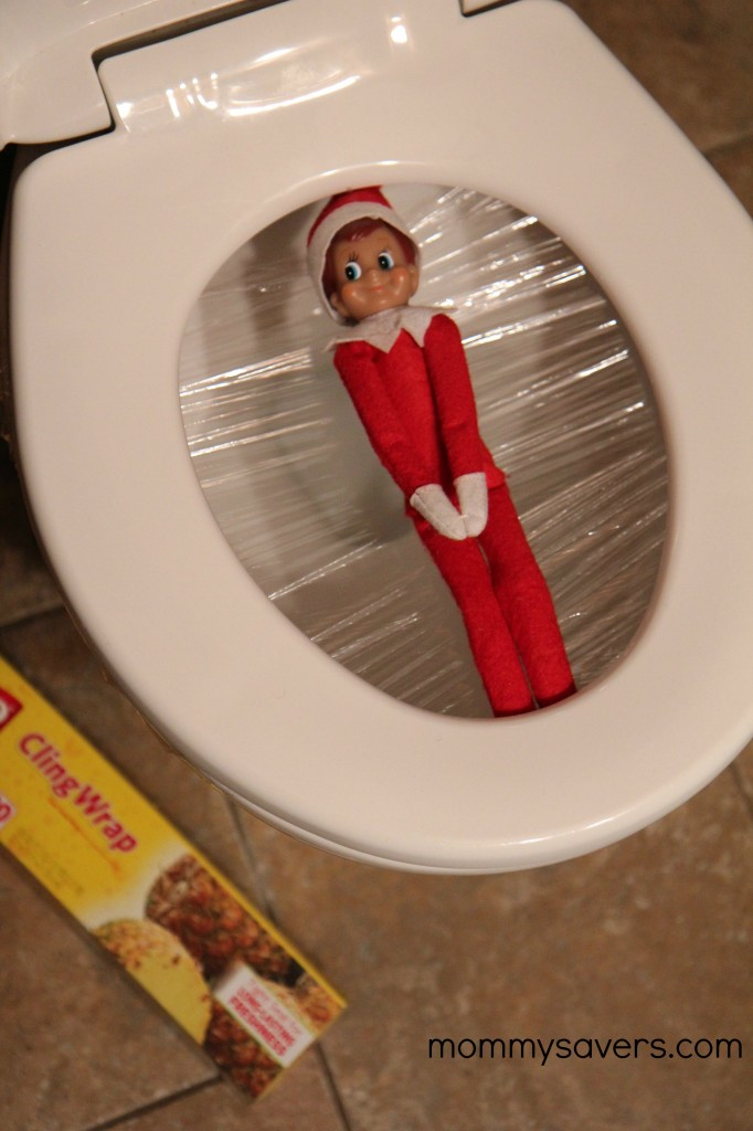 Ideas for Elf on the Shelf Saran Wrap