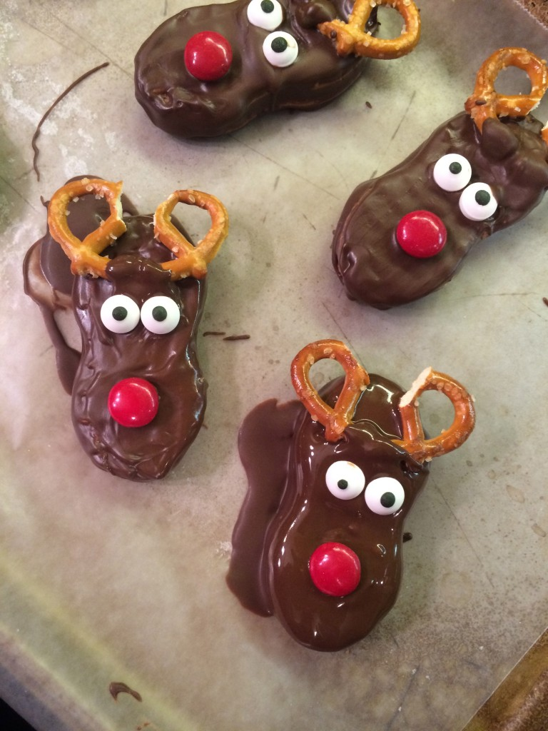 Chocolate Nutter Butter Reindeer Cookies