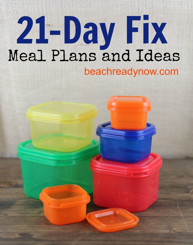 21 Day Fix Menu Plans