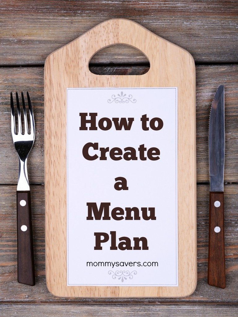 How to Create a Menu Plan