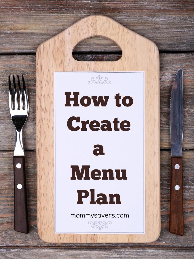 How to Create a Menu Plan