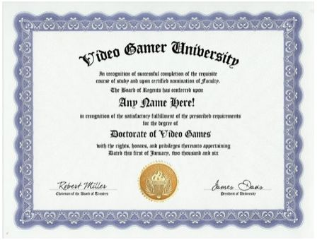 Video Game Certificate - Amazon Deals