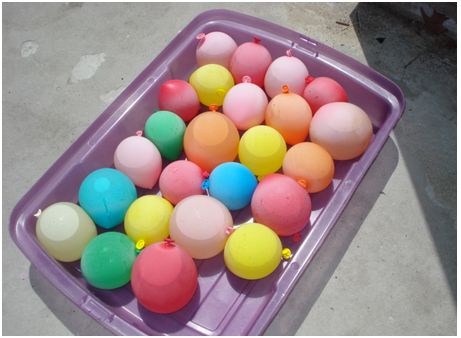 water balloons - beach tips