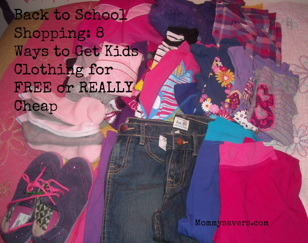 Back to School Shopping Kids Clothing for FREE or Cheap