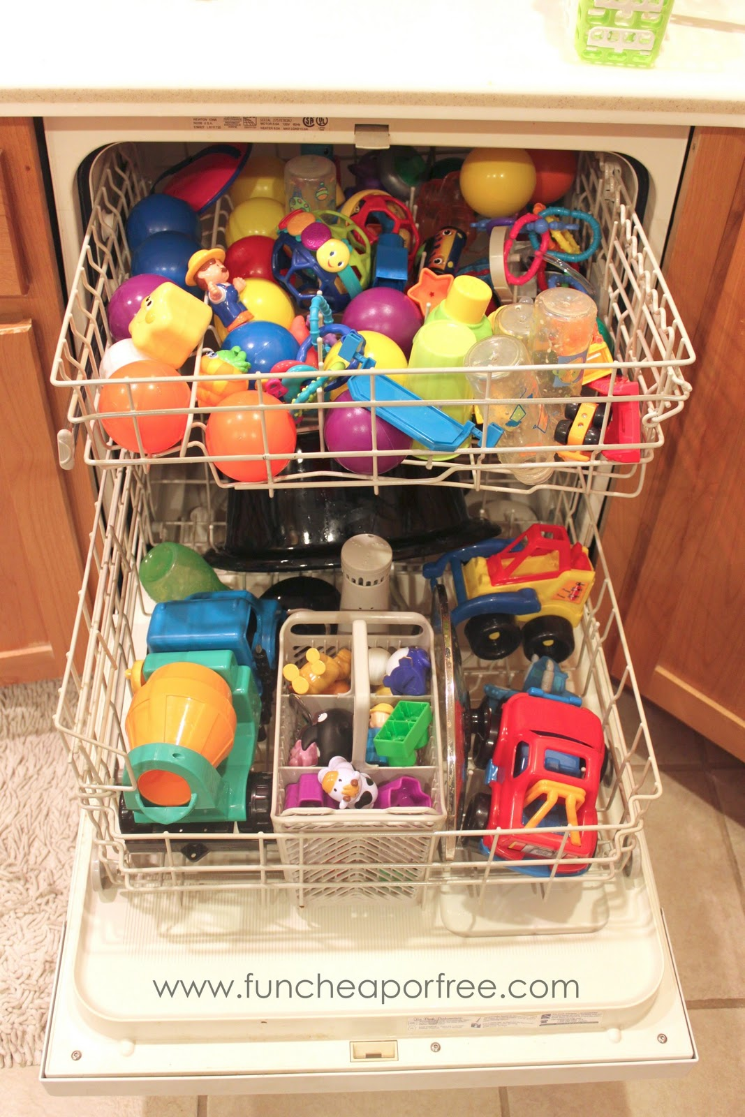 Toys in Dish Washer