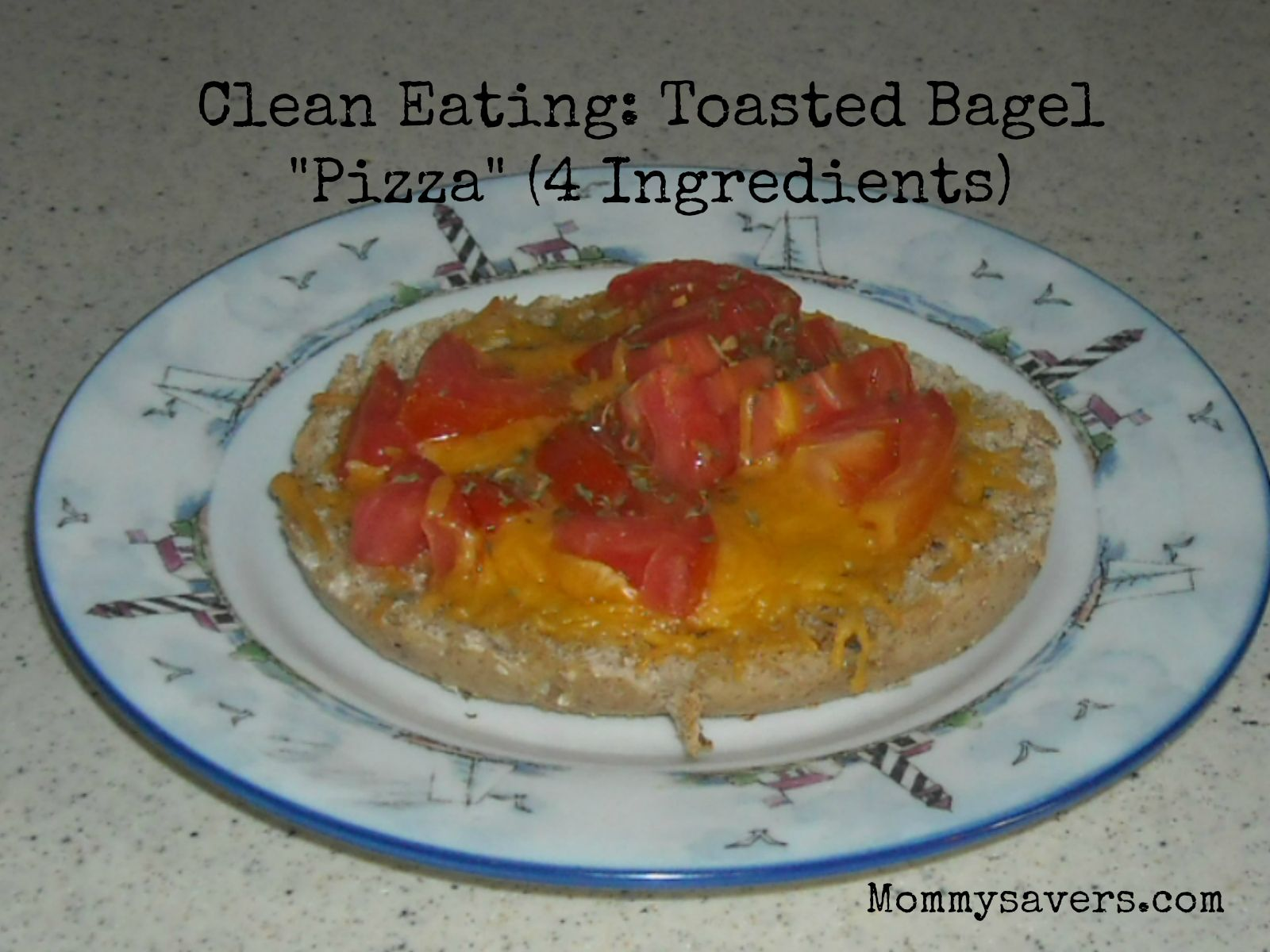 Clean Eating Bagel Pizza
