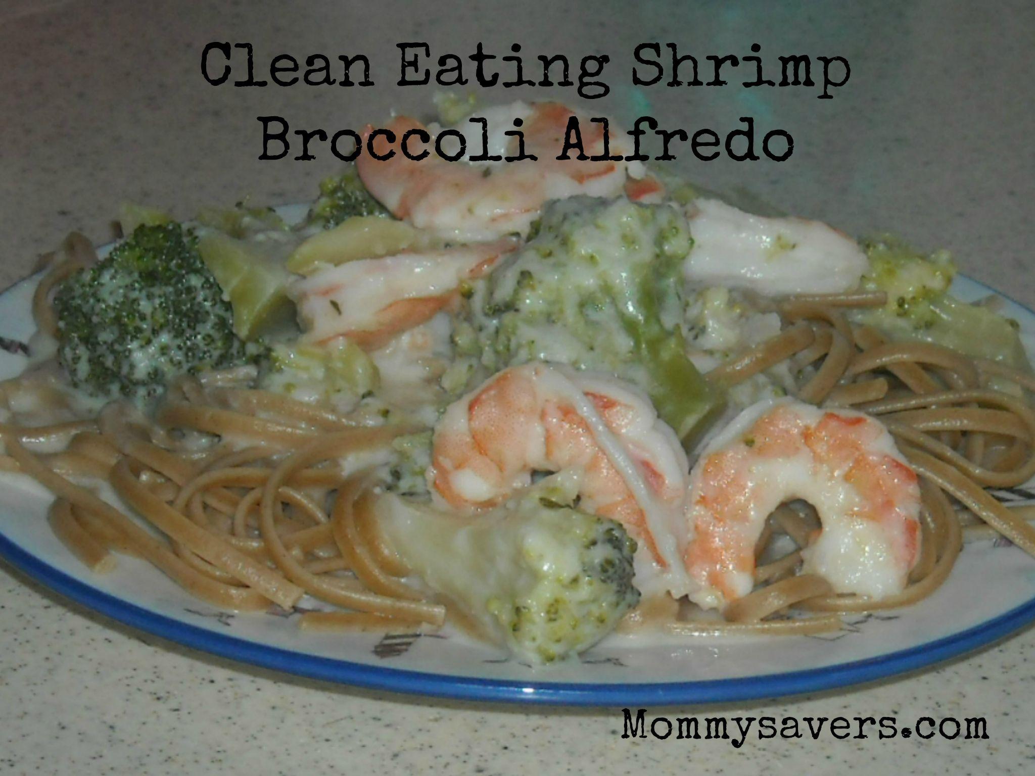 Clean Eating Shrimp Alfredo