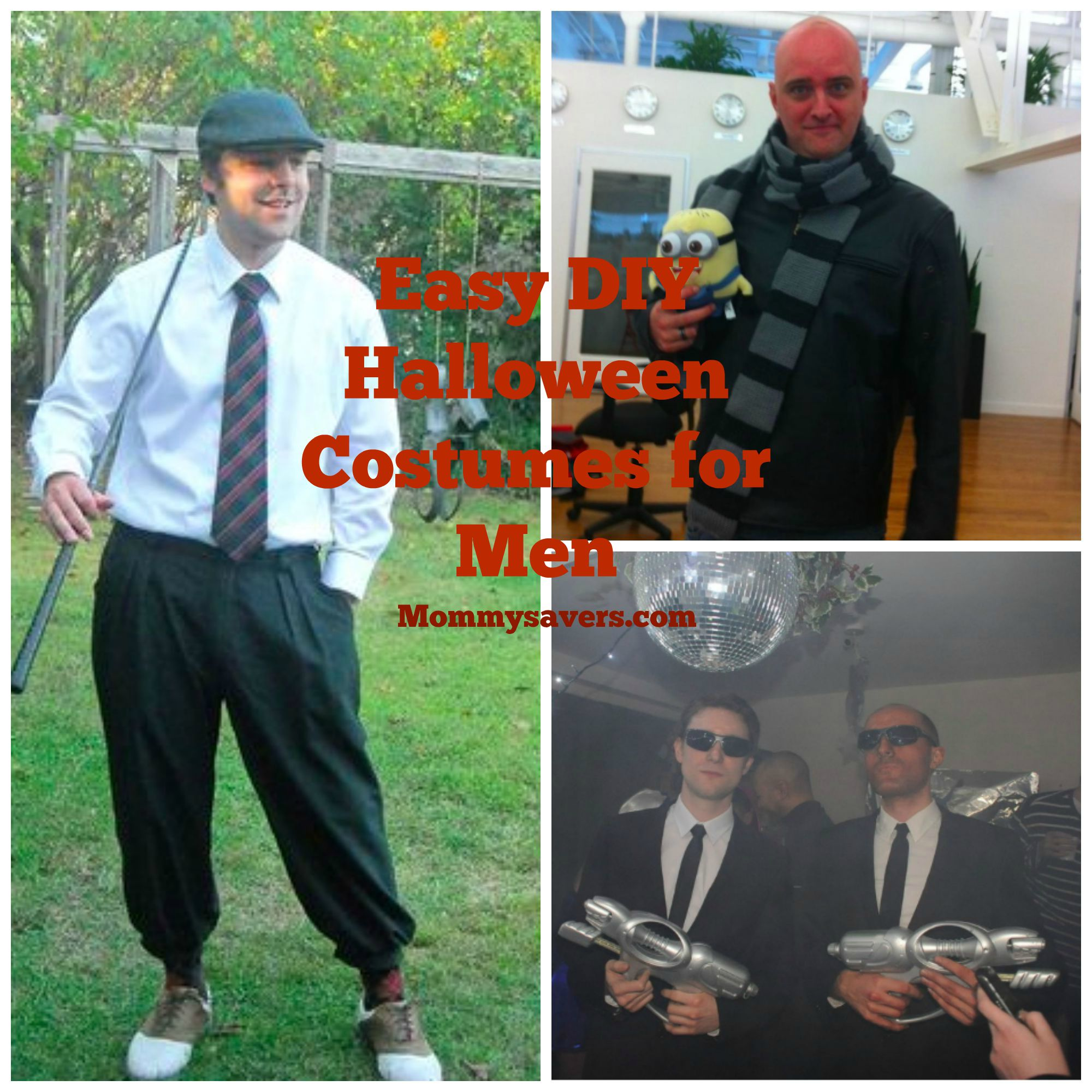 DIY Halloween Costumes for Men  sc 1 st  Mommysavers & DIY Easy Halloween Costume Ideas for Men | Mommysavers