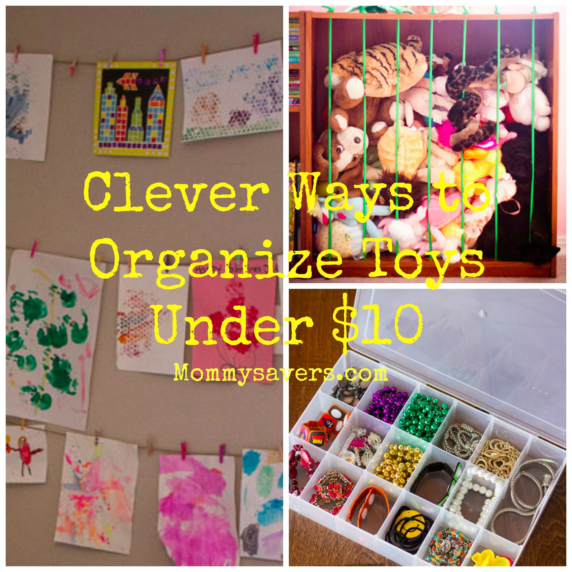 Clever Ways to Organize Toys